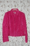"MBA #36-013   ""Rose Pink Yvonne & Marie Zipper Front Suede Jacket"