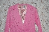 "**MBA #35-045   ""Pink No Boundries Fancy Lined Corduroy 1 Button Blazer"