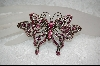 **Pink Crystal ButterFly Pin