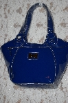 **Blue Max New York Italian Patent Double Handled Tote
