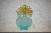 **Fenton Aqua Blue & Amber Opalescent Perfume Bottle