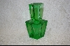 """SOLD"" MBA #I-EGPB  ""Irice"" Emerald Green Crystal Perfume Bottle"