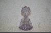 **Lavender Cracked Glass Perfume Bottle