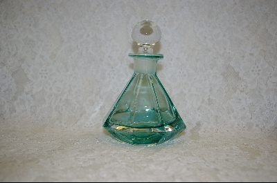 ** Large Pale Green Glass Perfume Bottle