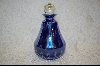 **Dark Blue Perfume Bottle W/ Clear Stopper
