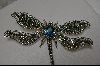 "**MBA #BDF  ""Large Marcasite Sterling DragonFly Pin"