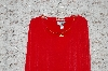 "**George Simonton ""Red Milky Knit Top With Faux Chain Detail"""