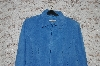 "MBA #49-066   ""Yavonne Marie ""Blue"" Suede Zip Front Jacket"