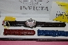 *MBA #54-017  Invicta Mens Lupah Watch With Three Strap Set