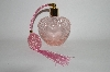 """SOLD""  Vintage Pink Heart Shaped Pefume Atomizer"