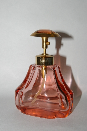 **Vintage Made In Austria Pink Glass Perfume Spray Bottle