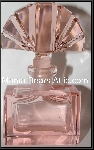 +MBA #55-191  Vintage Soft Pink Glass Perfume Bottle With Glass Fan Shaped Stopper