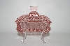 ** Beautiful Square Shaped Pink Glass Vanity Dish