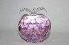**MBA #55-128  Large Pink Fancy Cut Glass Apple