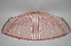 **Vintage Fancy Pink Glass Vanity Tray
