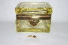 "+MBA #55-082  ""Vintage Yellow Glass Trinket Box"