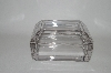 "+MBA  ""Vintage Clear Glass Heavy Trinket Box"