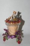 "+MBA #57-279  ""Kirks Folly ""Lady Slipper Kitty"" Candle Holder With Scented Candle"