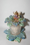 "+MBA #57-271  ""Kirks Folly ""Forget-Me-Not"" Candle Holder With Scented Candle"