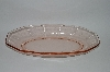 **MBA #57-006  Vintage Pink Depression Glass Relish Dish