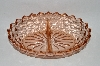 **Vintage Pink Depression Glass Divided Relish Dish
