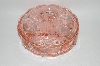 +MBA #57-042  Vintage Pink Depression Glass Candy Dish With Lid
