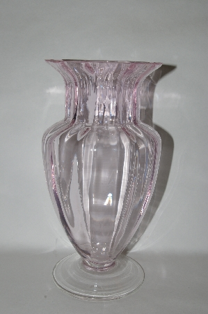 **Vintage Pale Pink Glass Vase
