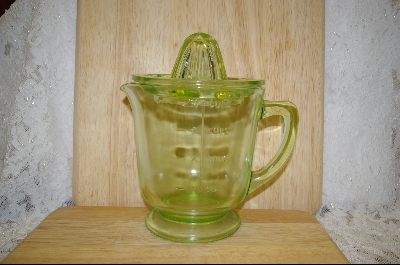 **Hocking  Green Reamer &  4- Cup Pitcher #4953