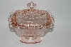 "+MBA #57-080  "" Indiana Glass  Vintage Fancy Pink Depression Glass Candy Dish"