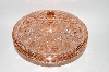 +MBA #57-091  MBA #57-091  Vintage Pink Depression Glass Gem-Cut Look Candy Dish