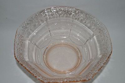 ** Vintage Pink Depression Glass Serving Bowl