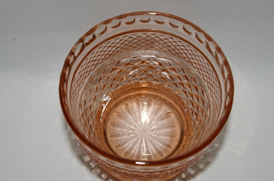 **Vintage Pink Depression Glass Candy Dish