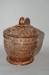 MBA #59-111   Vintage Pink Glass Sugar Bowl W/Lid