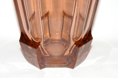 ** Vintage Pink Depression Glass Large Vase