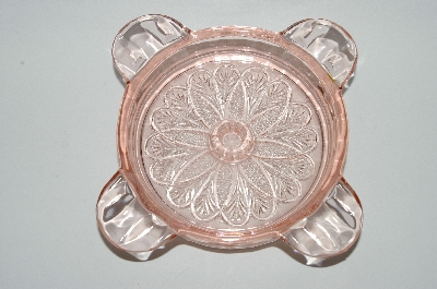 **MBA #59-202  Set Of 2 Vintage Adam  Pink Depression Glass Ashtray