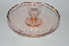 "MBA #59-153  ""1920's  Vintage Pink Depression Glass Heart Handled Candy Dish"