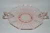 """SOLD""  MBA #59-126   Vintage Light Pink Depression Glass ""Fostoria Fairfax""   Sweetmeat Serving Tray"