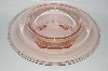 "**MBA #59-190  "" Vintage Light  Pink Depression Glass Console Bowl"