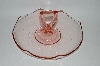 ** Vintage Pink Depression Glass Large Handled Cookie Dish