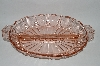 "+MBA #59-016  Vintage Pink depression Glass ""Oyster & Pearl"" Relish Dish"