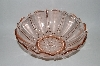 "**MBA #59-031   "" Large Fancy Cut Vintage Pink Depression Glass Serving Bowl"
