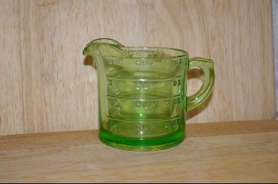 """SOLD""  Hocking Green Measuring Cup #4922"