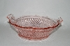 **Vintage Imperial Pink Twisted Optic Large Fruit Bowl