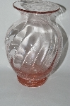 "**MBA #59-180   "" Beautiful Pink Glass ""Air Bubble"" Vase"
