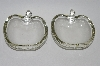 +MBA #59-172   Pair Of Two Vintage Clear Glass Apple Dishes