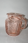 MBA #59-064  Vintage Pink Depression Glass Mayfair Open Rose Pitcher