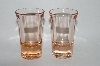 **Set Of 4 Vintage Light Pink Shot Glass's