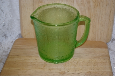 """SOLD""  **Hazel -Atlas Green Reamer Pitcher 4-Cup #4964"