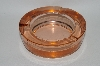 "**MBA #60-311  Vintage Dk Pink Glass ""Thick"" Round Ashtray"