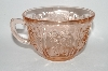 "**Set Of 2 Vintage Pink Depression Glass ""Sharon"" Tea Cup"